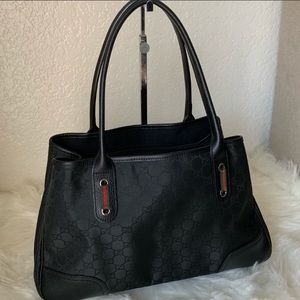 All Black Rare Gucci Shoulder Bag